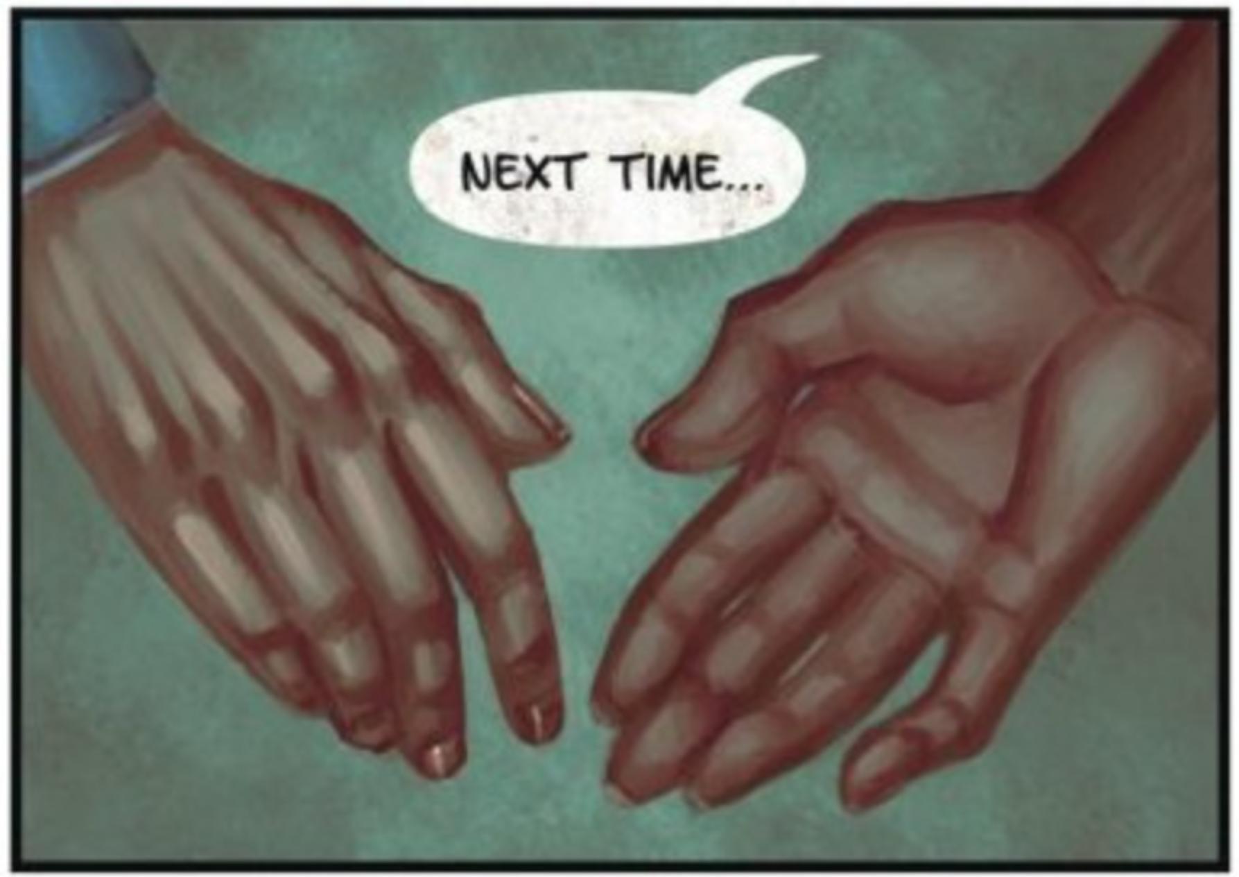 Leslie hands